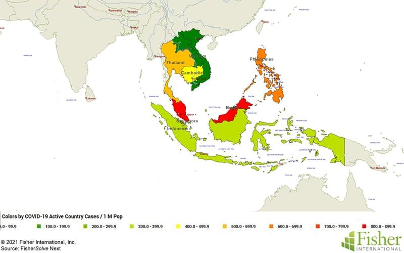 Fig 1 Covid-19 Active Cases per 1 million population
