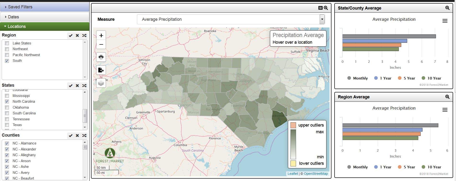 Forest2Market Product Spotlight: SilvaStat360 Precipitation Data